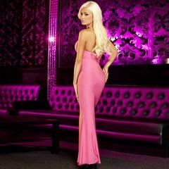 Вечернее розовое платье в пол от Hustler -