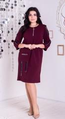 Ельга. Нарядне плаття великих розмірів. Бордо