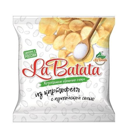 Хрустящие овощные снеки La Batata Картофель с адыгейской солью 25 г