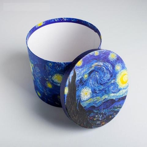 Коробка подарочная Звездная ночь, 17,5*20 см