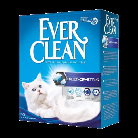 Ever Clean Multi Crystals Наполнитель для туалета кошек с мульти-кристаллами комкующийся (синяя полоска)