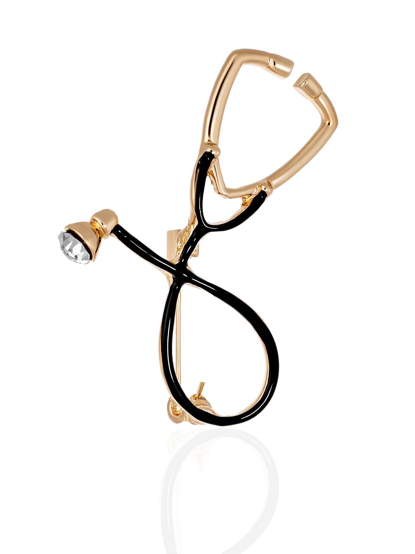 Брошь Стетоскоп в подарочной коробке, подарок доктору, врачу, медсестре, медику