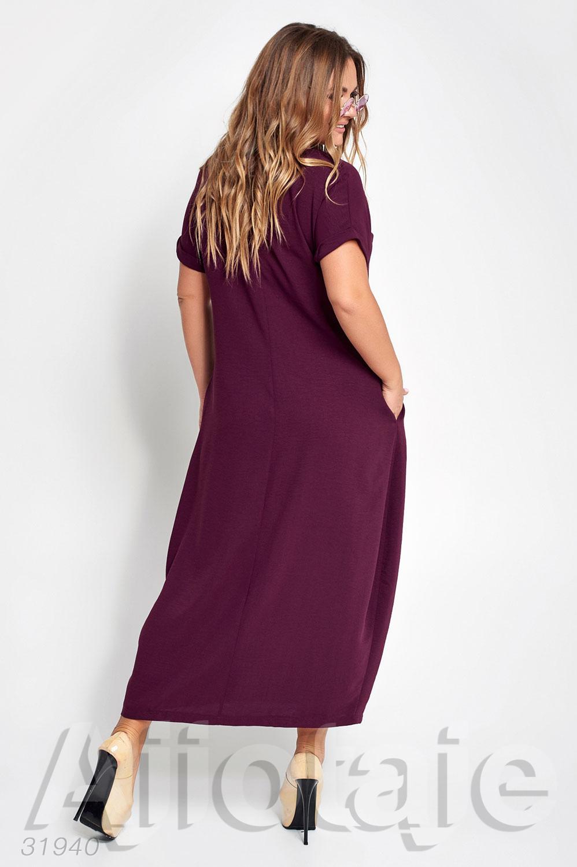 Платье макси свободного силуэта