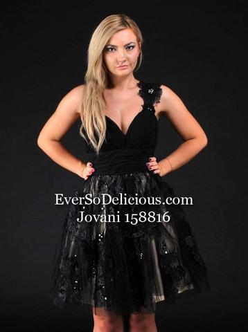 Светлана в платье Jovani 158816 black/nude