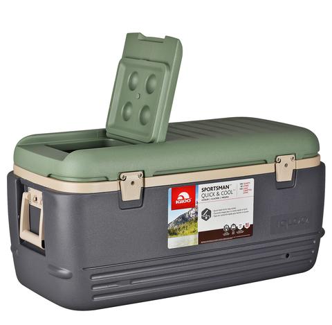 Изотермический контейнер (термобокс) Igloo Sportsman QUICK&COOL100 (95 л.), серый