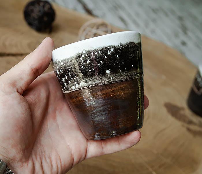 CUP108-2 Красивый стакан ручной работы, серия «Млечный Путь» фото 04