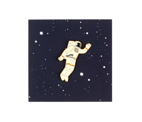 Значок металлический Космос'61: Космонавт