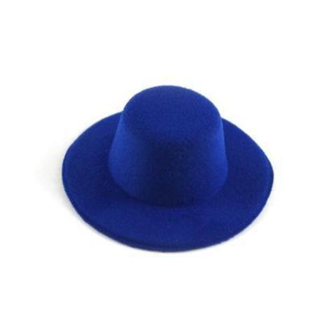 Шляпа  для игрушек синяяя 8см