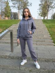 Теплый серый спортивный костюм nadya