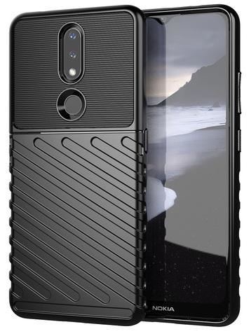 Чехол черный на смартфон Nokia 2.4, высокий уровень защиты, серия Onyx от Caseport