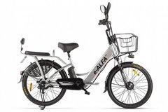 Электровелосипед Green City E-Alfa Fat (2020) Серебристый