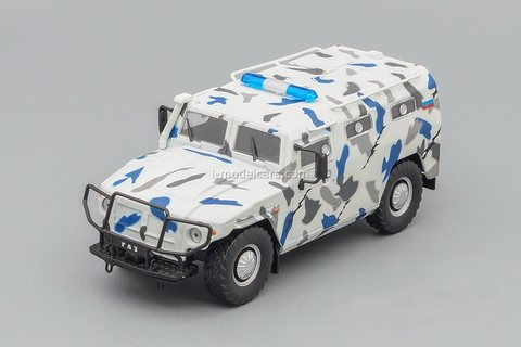 GAZ-233036 Tiger SPM-2 white-gray 1:43 DeAgostini Auto Legends USSR Police #10