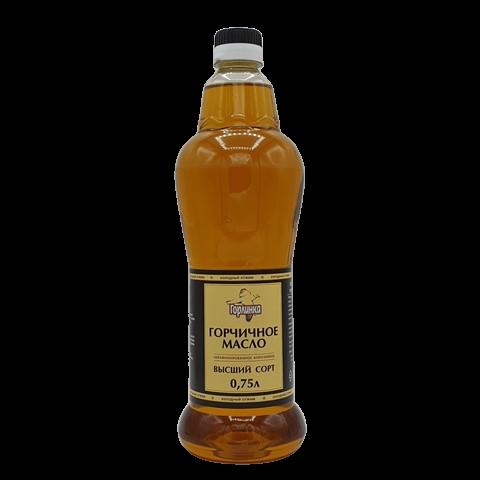 Масло горчичное коричневое нерафинированное ГОРЛИНКА, 750 мл