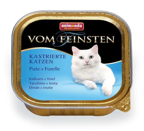 Консервы с индейкой и форелью для кастрированных кошек Animonda Vom Feinsten For Castrated Cats - Turkey Trout