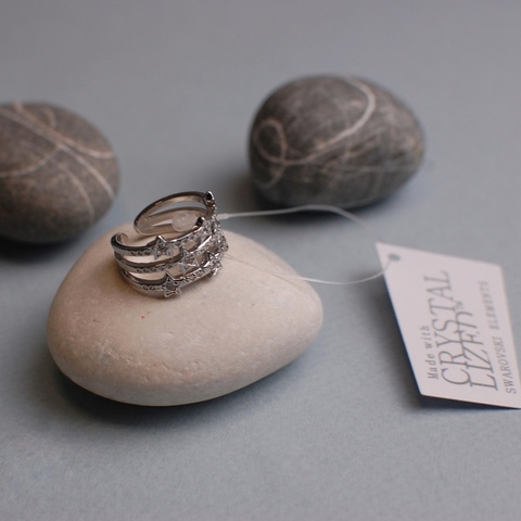 Ring (Кольцо безразмерное «Звезды») крупное