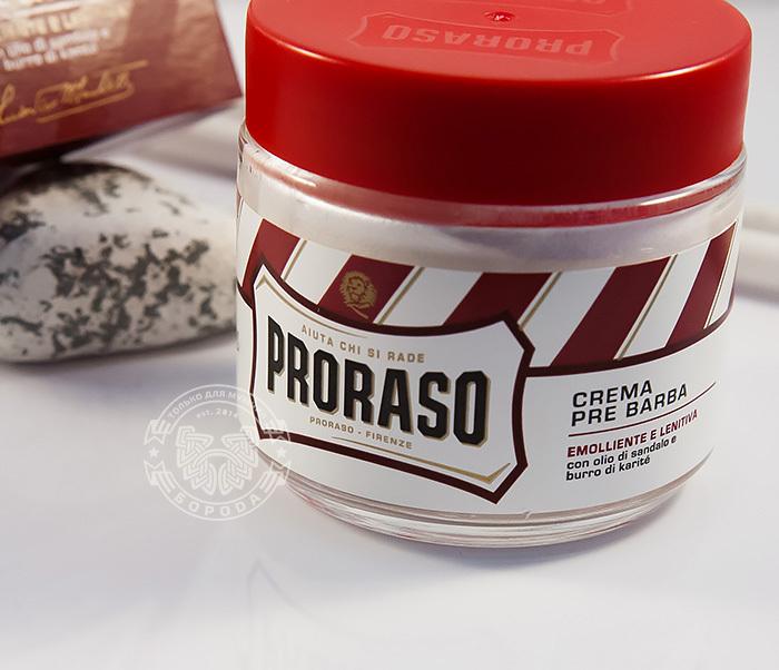 RAZ400122 Крем до бритья «Proraso» pre shave с сандалом и маслом ши (100мл) фото 03