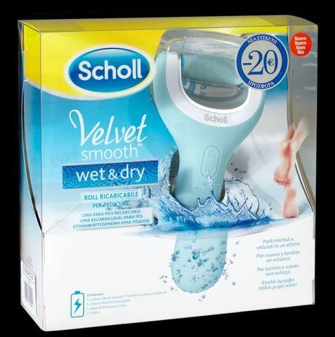 Электрическая роликовая пилка Scholl Velvet Smooth Wet&Dry
