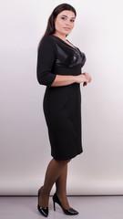 Віагра. Елегантне плаття для пишних дам. Чорний.