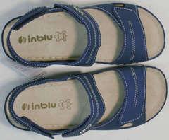 Удобные сандалии женские спортивные на липучках Inblu CB-1U Blue.