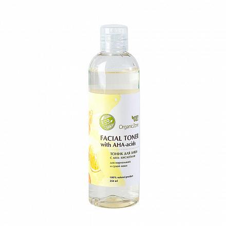 Тоник для лица с AHA-кислотами, для нормальной и сухой кожи OZ! OrganicZone, 250 мл