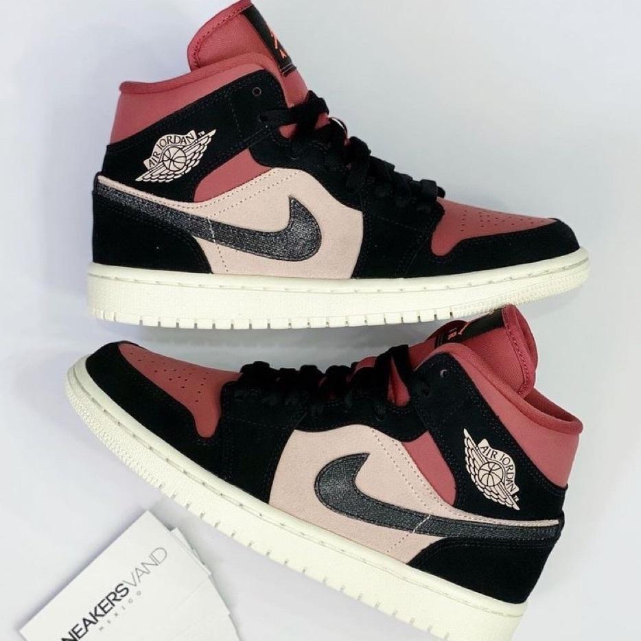 Nike Air Jordan 1 Mid Burgundy Dusty Pink