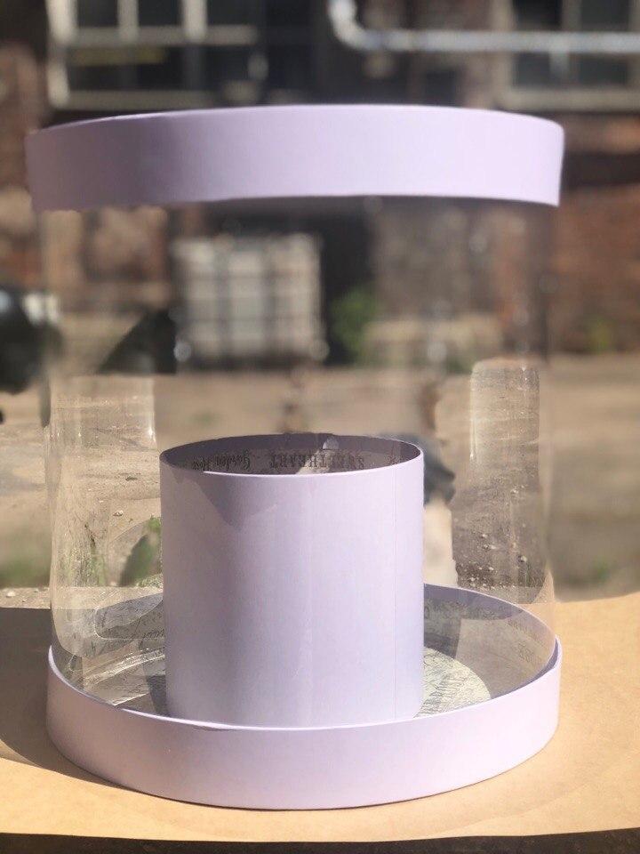 Коробка аквариум 32см Цвет :Светло Серый . Розница 700  рублей .