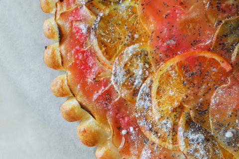 Пирог с фруктовым ассорти