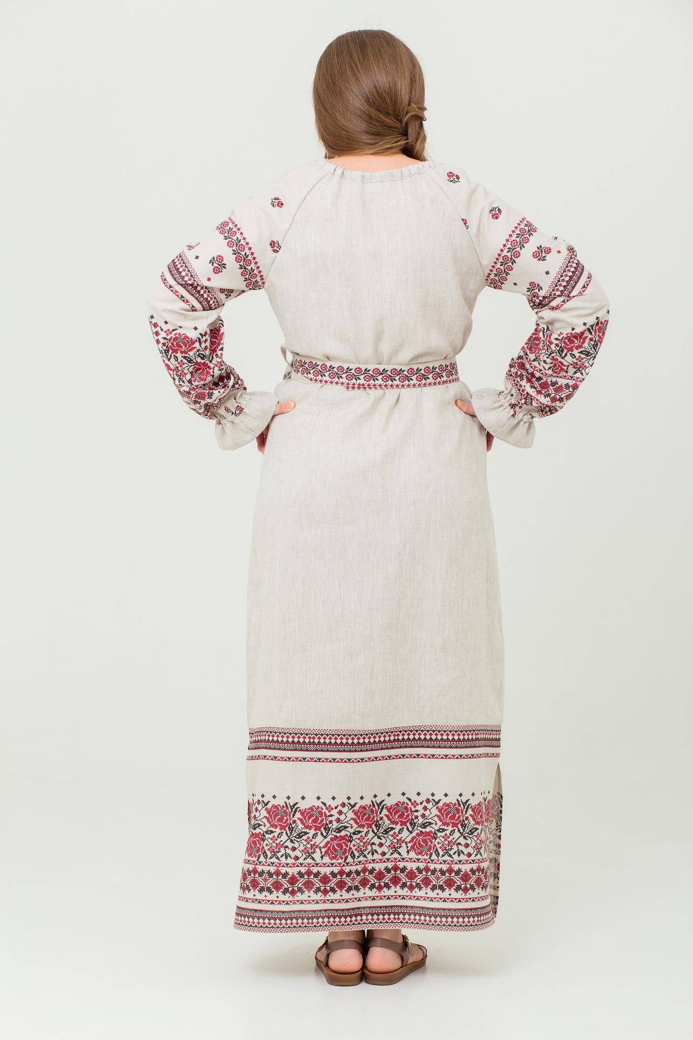 платье Женское счастье на небелёном славянское