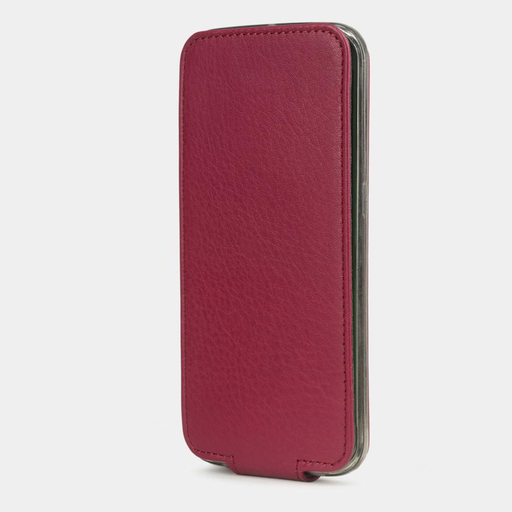 Чехол для Samsung Galaxy S6 edge из натуральной кожи теленка, цвета малины