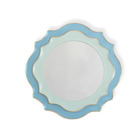 Зеркало дизайнерское 345691 by Light Room (голубой)