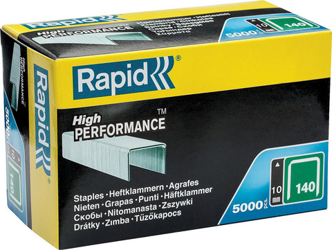 RAPID 10 мм широкие скобы, супертвердые, профессиональные тип 140 (G / 11 / 57), 5000 шт