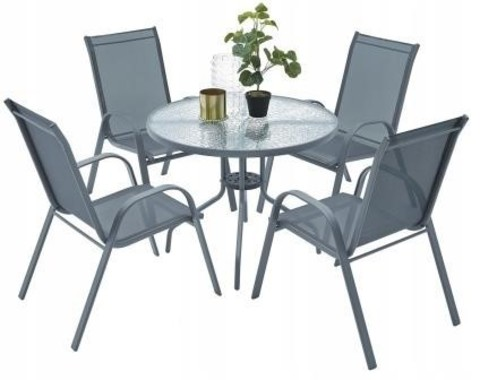 Комплект садовый KINGSTON (стол круглый и 4 кресла)