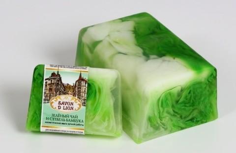 Косметическое мыло  Зелёный чай и стебель бамбука 100 гр. ТМ SAVON D LION