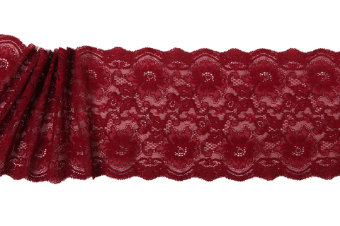 Кружево эластичное бордо 16,5 см