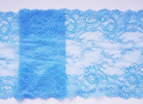 Эластичное кружево, голубой, 19см (Артикул: EK-2113), м