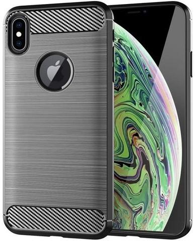 Чехол для iPhone XS цвет Gray (серый), серия Carbon от Caseport