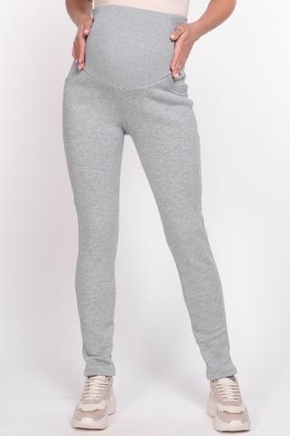 Утепленные спортивные брюки для беременных 10894 серый