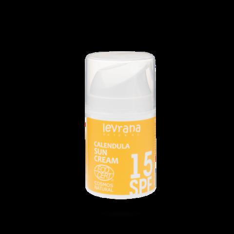 Крем для лица Календула 15SPF, 50 мл (матирующий эффект) ECOCERT Levrana