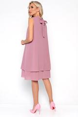 <p>Начни лето красиво! Струящееся платье из легкого креп-шифона. Ворот стойка с бантом. По переду драпировка.&nbsp;<span>(Длины: 44-93см; 46-94см; 48-96см; 50-97см; 52-98см)</span></p>