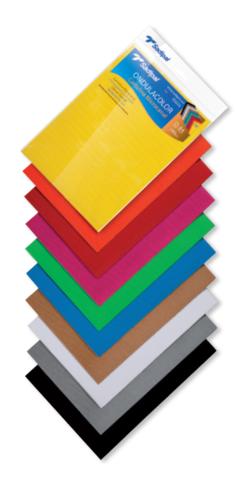 Набор гофрокартона в листах Sadipal OndulaColor 328г/м.кв A4 21*39,7см - желтый, оранжевый, красный, фуксия, голубой, зеленый, коричневый, белый, серый, черный 10 листов в упаковке