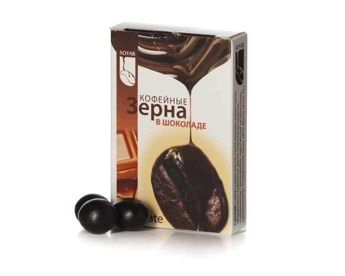 Кофейные зерна в шоколаде Soyar «Амаретто», 25 г