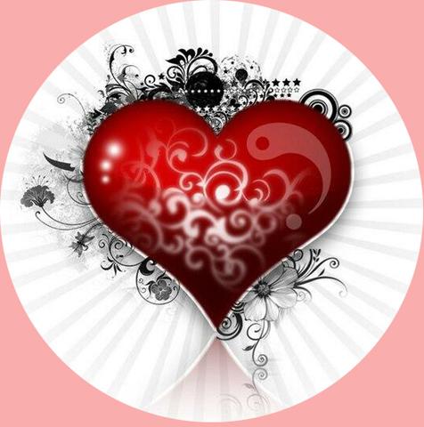 Печать на вафельной бумаге, День Влюбленных 15