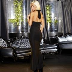 Вечернее черное платье в пол от Hustler -