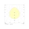 Диаграмма светораспределения для светильника аварийного освещения производственных помещений Acciaio Emergency LED