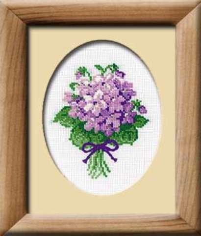 Набор для вышивания крестом «Фиалки» (240)