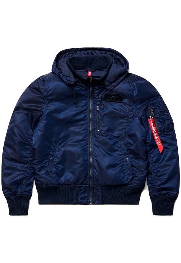 Куртка Бомбер - MA-1 Alpha Hooded Rib (т.синяя - r.blue)