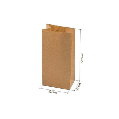 Крафт пакетик 17х8см