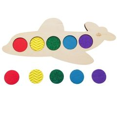 Развивающая игра Тактильный самолет, Сенсорика