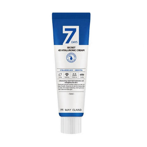 [MAY ISLAND] Крем с 4 видами гиалуроновой кислоты  - 7days secret 4Dhyaluronic cream 50 МЛ