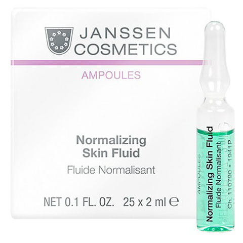 Janssen Ampoules: Нормализующий концентрат в ампулах для ухода за жирной кожей лица (Normalizing Fluid)